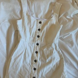 Urban Outfitters white denim dress. Size 4.